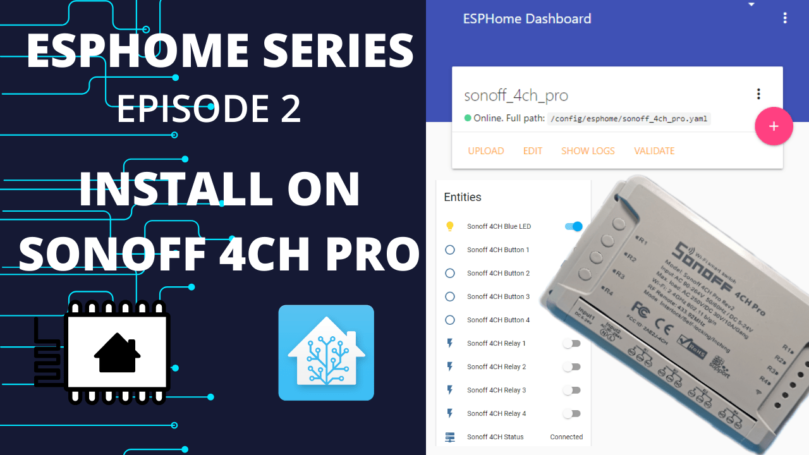How to install ESPHome on Sonoff 4CH Pro R2
