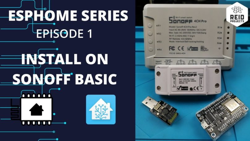 How to install ESPHome on a Sonoff Basic